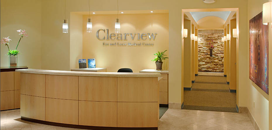 Commercial clearview eye laser medical center san for Medical office interior design
