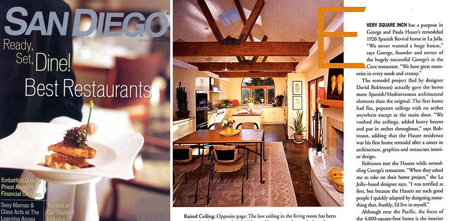 San Diego Magazine August 2004 Hauer Residence - Download the PDF